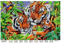 Схема для частичной зашивки бисером - Пара тигров