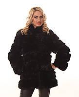 Женская шуба-трансформер из меха кролика с длинным рукавом, Ева