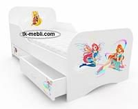 Фабричная кровать детская для девочек Винкс