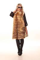 Женская меховой жилет из лисы Лека