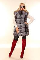 Женская меховая жилетка из чернобурки Элит