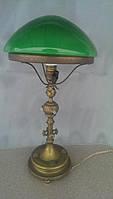 Лампа светильник бронза позолота зеленый плафон