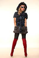 Женская жилетка из чернобурки Комби