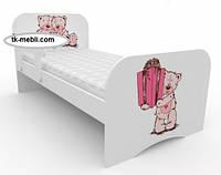 Кровать подростковая Мишка с подарком