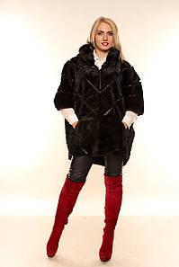 Женская шуба большого размера из сурка, Батал