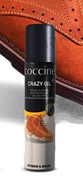 Масло Crazy oil для ухода за обувью.  Для промасленного нубука и замши, 75 мл Coccine