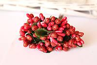 Сложные тычинки блеск крупные, около 144 шт/уп. красного цвета