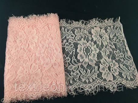 Кружево французское цвет розовое 250 мм N977, фото 2
