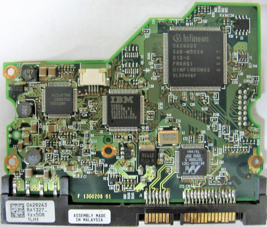 Плата HDD 160GB 7200rpm 8MB SATA 3.5 Hitachi HDS722516VLSA80 13G0208