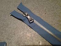 Молния металлическая голубого цвета, фото 1