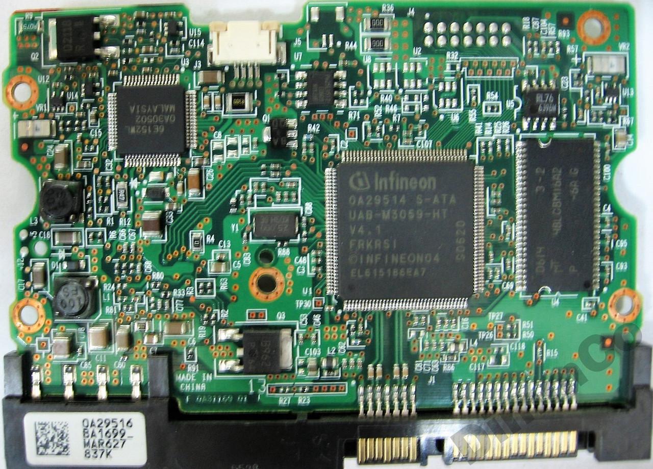 Плата HDD 500GB 7200rpm 16MB SATA II 3.5 Hitachi HDS725050KLA360 0A31169