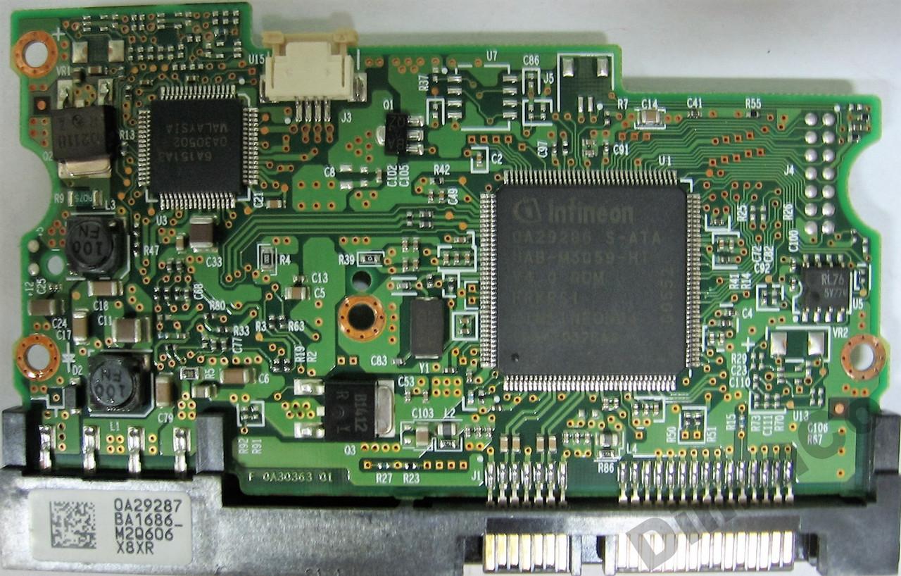 Плата HDD 80GB 7200rpm 8MB SATA II 3.5 Hitachi HDS728080PLA380 0A30363
