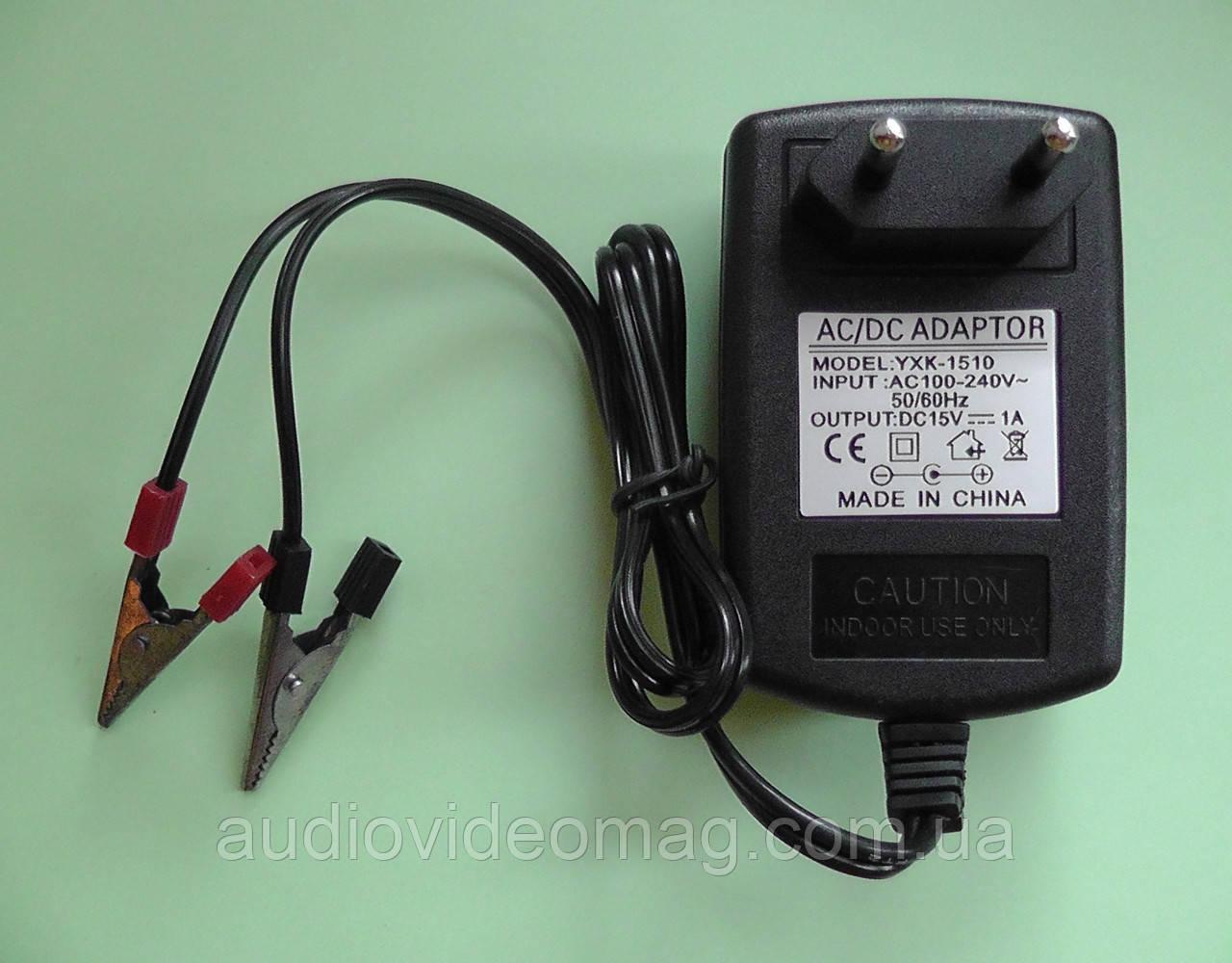 Зарядное устройство 15V 1A  для зарядки аккумуляторов 12V