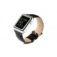 Ремешок кожа Apple Watch 38mm black