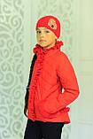 Куртка с шапкой для девочки Одри. Детская одежда. , фото 6