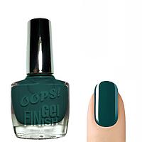 OOPS! Лак для ногтей с эффектом гелевых ногтей (тёмно-зелёный) № 03