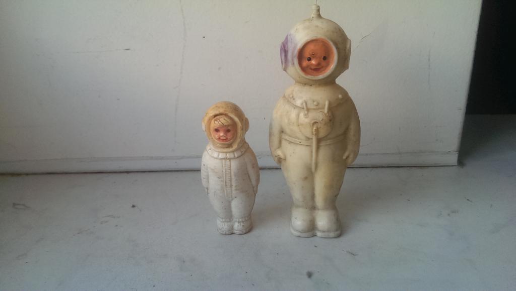 Игрушка кукла космонавт пара СССР