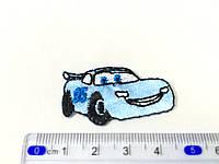 Детская нашивка Маккуин цвет голубой small
