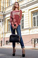 Модный женский свитшот из трехнитки 44-50 размеры, фото 1