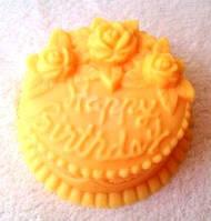 """Мыльный тортик с надписью """"Happy Birthday"""", фото 1"""