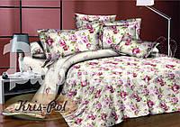 Комплект постельного двуспального белья сатин катерина
