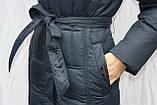 Пальто-пуховик длинное SHENOWA (холлофайбер) с мехом - песец, фото 4