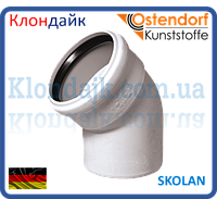 Колено безшумное 100*87 SKOLAN (Ostendorf)