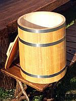 Дубовая бочка для засолки 50л нержавейка (кадка), фото 1