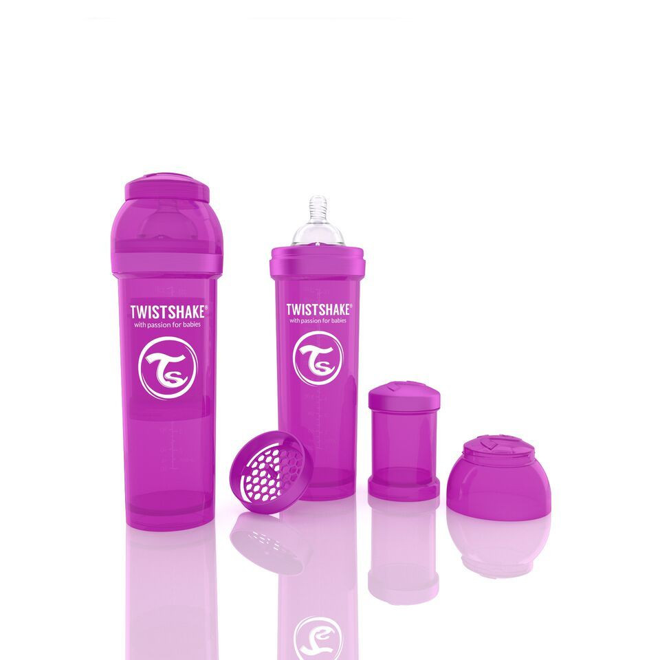 Антиколиковая бутылочка 330ml Purple - TWISTSHAKE