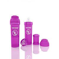 Антиколиковая бутылочка 330ml Purple - TWISTSHAKE, фото 1