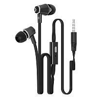 Черные брендовые наушники с микрофоном Langsdom