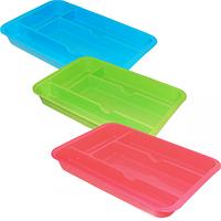 Лоток-вкладыш для столовых приборов 29,5 * 20,4см, 3 цвета Микс