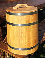 Дубовая бочка для засолки 30л нержавейка (кадка), фото 1
