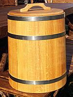 Дубовая бочка для засолки 20л нержавейка (кадка)