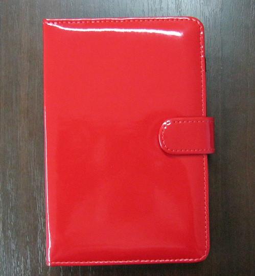 Чехол для планшета 7 на магните с подставкой лак красный
