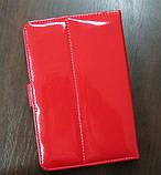 Чехол для планшета 7 на магните с подставкой лак красный, фото 2
