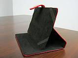 Чехол для планшета 7 на магните с подставкой лак красный, фото 4