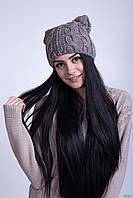 Интересная вязаная шапочка