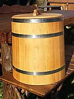 Дубовая бочка для засолки 40л нержавейка (кадка)