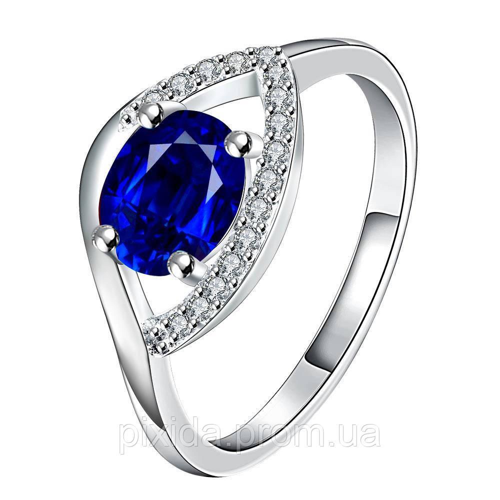 Кольцо Око циркон покрытие 925 серебро разные цвета