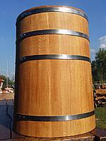 Дубовая бочка для засолки 100л нержавейка (кадка)