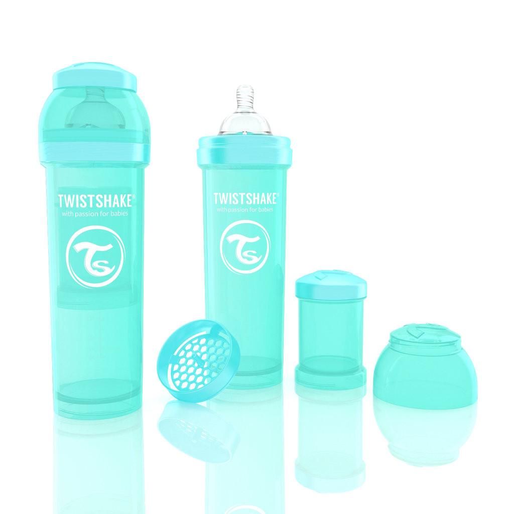 Антиколиковая бутылочка 330ml Turquoise - TWISTSHAKE