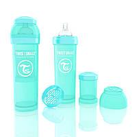 Антиколиковая бутылочка 330ml Turquoise - TWISTSHAKE, фото 1