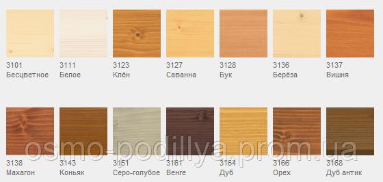Цветное прозрачное масло для тонирования деревянных поверхностей
