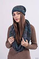 Вязаный комплект шапка+шарф