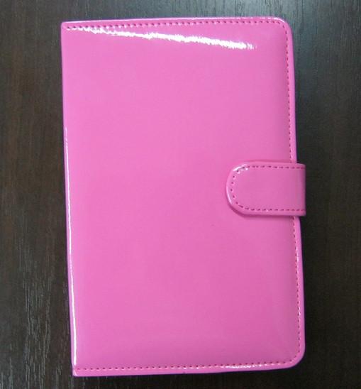Чехол для планшета 7 на магните с подставкой лак розовый