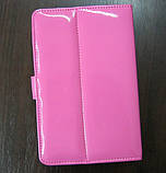 Чехол для планшета 7 на магните с подставкой лак розовый, фото 2