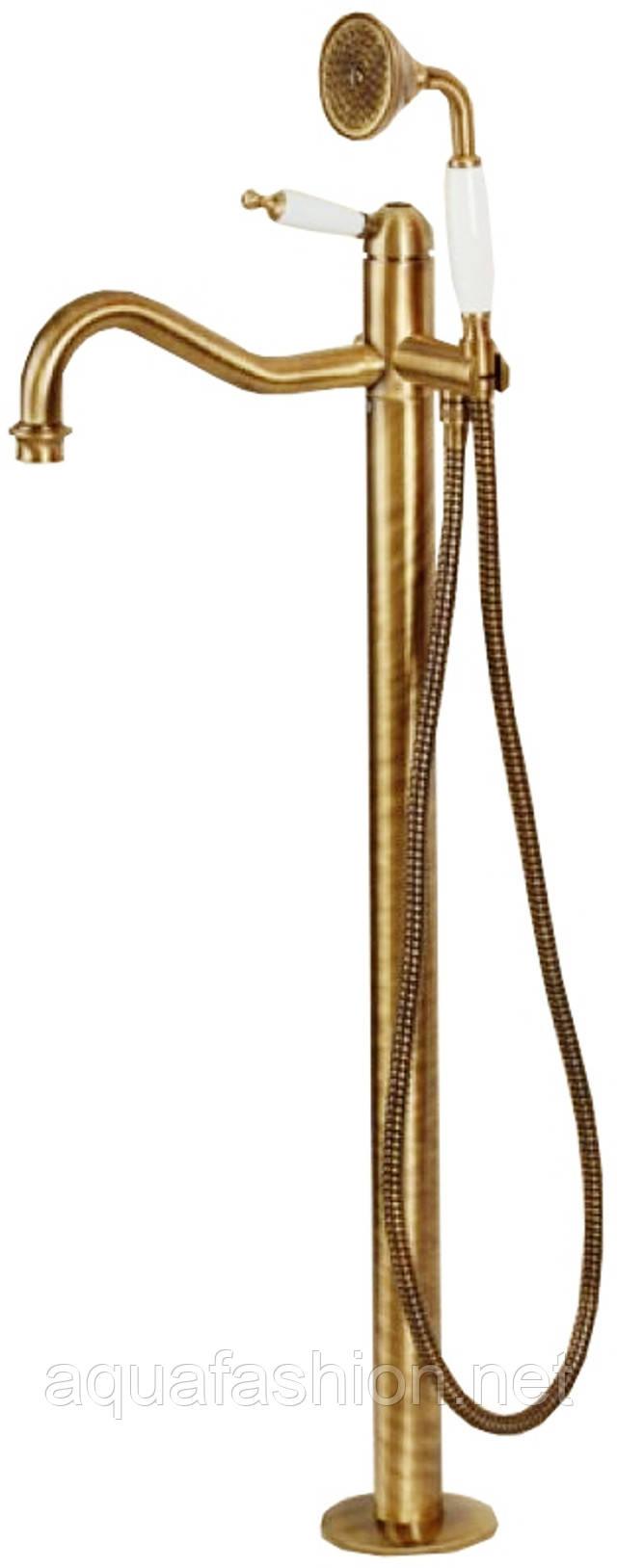 Напольный смеситель для ванны бронза Bugnatese Oxford 6360