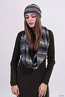 Уютный вязаный комплект с шапкой и шарфом