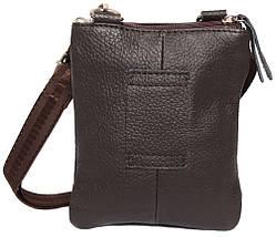 6b69ebd27192 Компактная мужская кожаная сумка на пояс и через плечо коричневая, фото 2